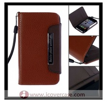 2012 hot,Korean cute two color wallet Leather Case for iphone 4S