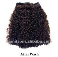 human hair 50% Italian Mink jerry curl weft