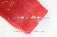 red color hair weaving