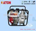 Atón 6.5hp 3 pulgadas eléctrica de gasolina de la bomba de agua