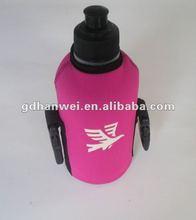 Fashionable neoprene zipper water/beer/bottle stubby cooler holder