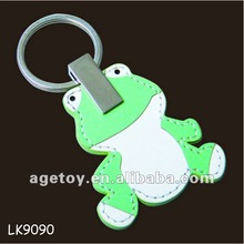 Leather Frog Keychain,Frog Key Ring,Frog Key Holder