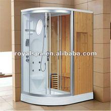 Luxurious outdoor sauna steam room