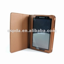 Folio Stand PU Leather Case for Lenovo Lepad A1 Tab Brown