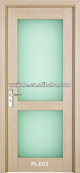 Eviar int rieure en bois de salle de bains porte en verre for Modele de porte interieure en verre