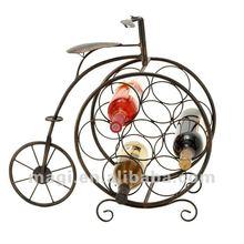 2012 Antique Newest Tricycle Decorative Metal Bottle Wine Rack