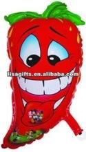 2012 hotting selling capsicum shaped mylar balloon