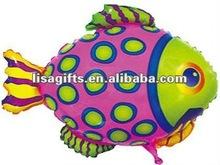 2012 hotting fish shaped mylar balloon