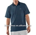 yarn-dyed pigue regular stripe men's polo