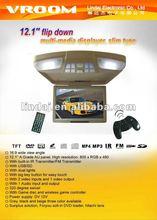 12.1 inch car roof mount tv Easy installation High Quality Optional Function:DVD/TV/USB/SD/IR/FM Flip Down Car Monitor