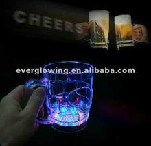 LED flashing beer mug flash cup led cup LED LIGHT-UP DRINKWARE BEER 500ml