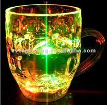 wholesale retail 350ml LED BEER MUG PLASTIC FLASH LIGHT CUP MUG for ktv bar
