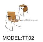 used plastic school desk chair with metal TT02