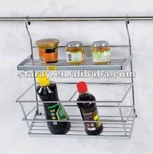 HCJ303 Kitchen Metal Wire Spice Bottle Rack