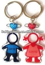 beautifulPVC dome key chain