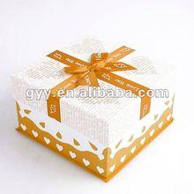 Orange Gift paper box for birthday cake packaging