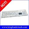 Stainless steel industrial keyboard with vandal-resistant trackball,numeric keyboard