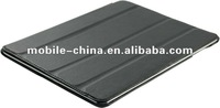 New Black Leather Smart Case flip Stand Cover For Apple iPad3 with 4layer