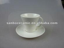 2012 popular white porcelain coffee set