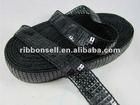 7/8 inch black sequin ribbon