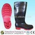 Seguridad botas de pvc, Botas de seguridad de acero del dedo del pie
