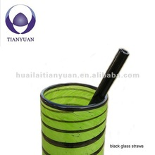 black eco glass straw 9mm for drinking