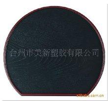 irregular black food tray
