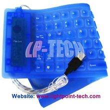 Pluggable USB /PS2 Interface 85keys flexible keyboard
