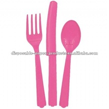 Wholesale Hot Pink Plastic Cutlery Set/DORA The Explorer & Friends Birthday Party Tableware