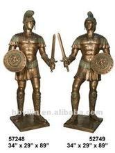 Metal Crafts Brass Western Knight Sculpture