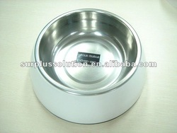 Stock lot stainless steel dog bowl/ pet bowl