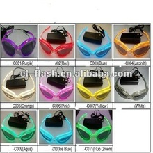 flashing light up el sunglasses for gifts