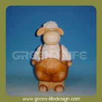 Garden terracotta cow animal product