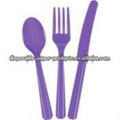 Wholesale Purple Cutlery Set /Ariel The Little Mermaid Partyware , party Tableware
