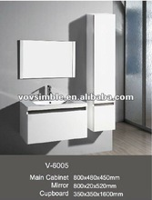 Modern MDF Glossy White Bathroom Suite
