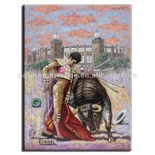 Spain Bullfighter oil painting