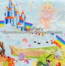 Wholesale Fairytale Princess Party Napkins/kids Partyware /Girls Birthday Party Supplies Tableware