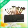 13 pcs wooden handle goats wool pahmi hair cosmetic Brush set