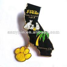 die cut baseball pin, enamel badge trading pin, baseball badge with danglers