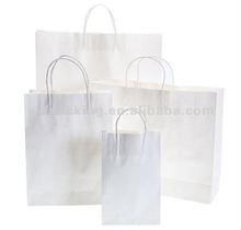 2012 bestselling deluxe white kraft paper bag