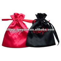 satin pouch embroidered bag/small satin pouch/satin jewellery pouch