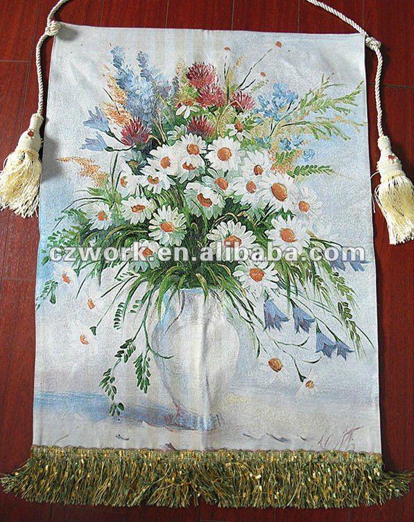 Pinturas famosas de flores com bordado chinês-Artesanato popular ...