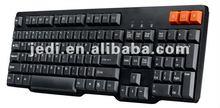 Mechanical Gaming Keyboard with three yellow hot keys