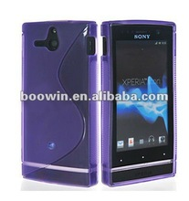 purple S-line Gel silicon Case Rubber Skin Tpu Cover for sony ST25i Xperia U