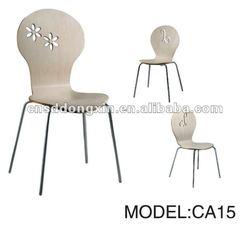 Modern Plywood Chrome legs dinning Chair CA15