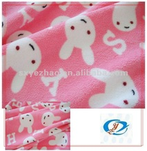 100%poly printed anti-pilling fleece /fabrics and textiles per kg