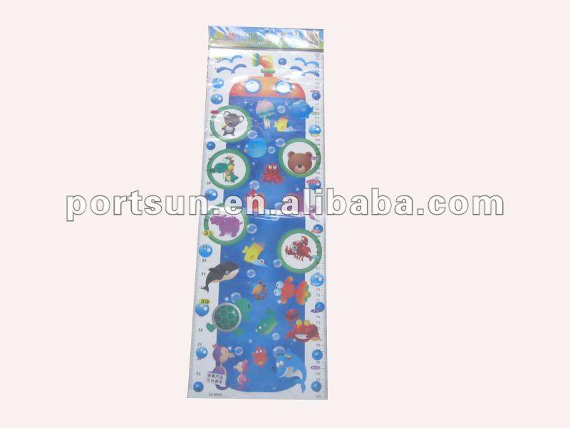 children height measurement wall sticker