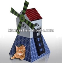 funky recycled cardboard cats house