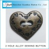 heart shape sewing button