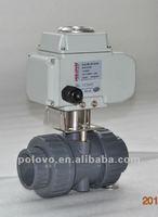 Actuated motorizing ball valve 2-way UPVC solvent union end socket